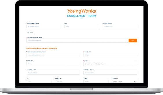 School automated enrollment software system